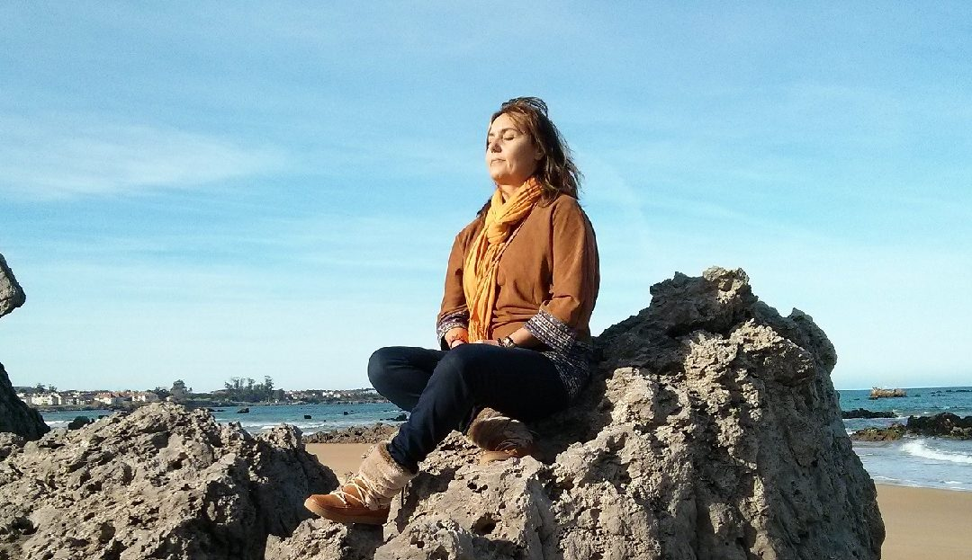 El placer de meditar aprendiendo español.           The pleasure of meditating while learning Spanish.